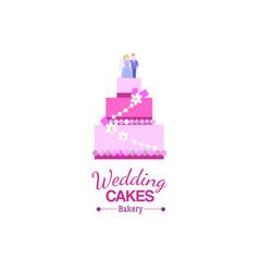 big wedding cake bakery vector image