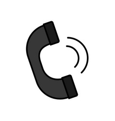 Handset phone icon vector