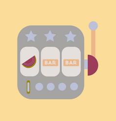 Flat icon on stylish background slot machine vector