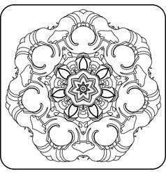 circular pattern of curves vector image