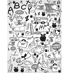 doodle education background vector image