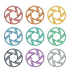 Set of colorful shutters vector image