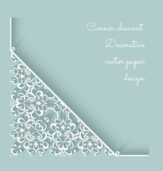 Paper lace corner vector image
