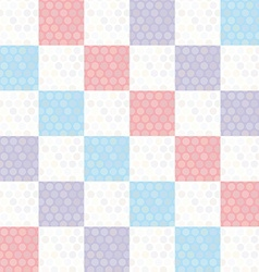 Polka dot background seamless pattern with pink vector