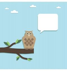 Paper owl vector