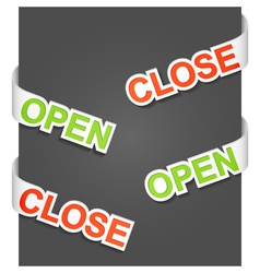 Open and close signs vector