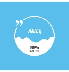 Quote bubble label pack milk background vector