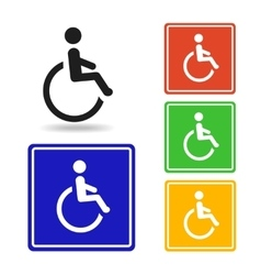 Disabled icon  disabled pictogram for logo vector