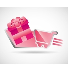 Gifts online design vector