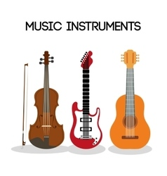 Guitar and cello icon music instrument vector