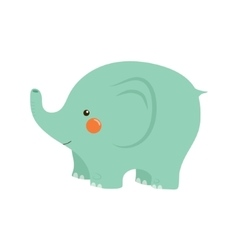 Elephant stylized childish vector