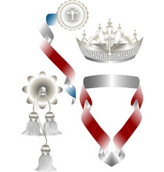 Attributes for royal heraldry vector