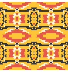 Aztec tribal seamless black yelloe red pattern vector