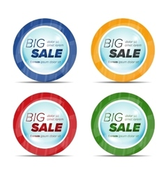 Big sale circle stickers in a bubble vector image vector image