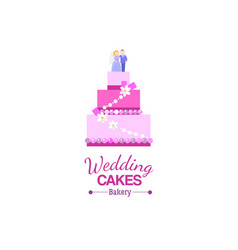 big wedding cake bakery vector image