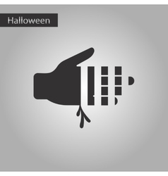 black and white style icon bloody hand vector image
