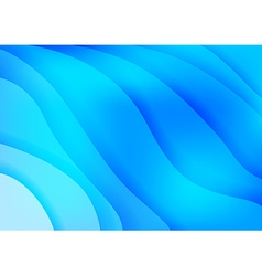 Bright blue waves abstract background vector image