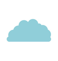 cloud fluffy in light blue and white background vector image vector image