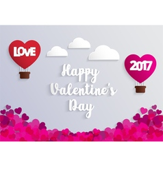 Concept of valentine day hot air balloon vector