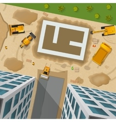 Construction Top View Poster vector image
