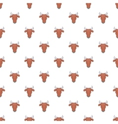 Cow pattern cartoon style vector