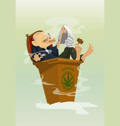 digital funny comic cartoon vector image vector image