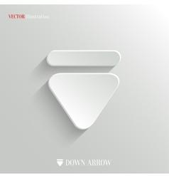 Down arrow icon - white app button vector
