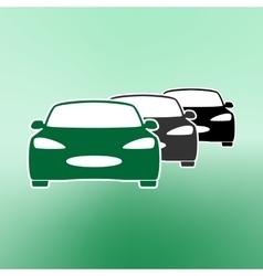 E-car eco car electric icon charging electric vector