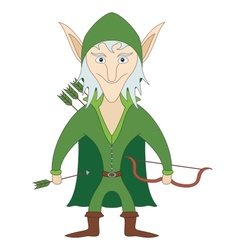 Elf archer vector image vector image