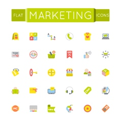 Flat marketing icons vector