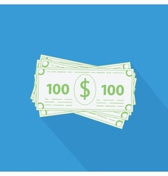 flat stack of money icon vector image vector image