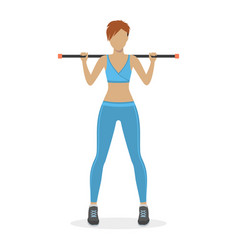 Girl with a body bar vector