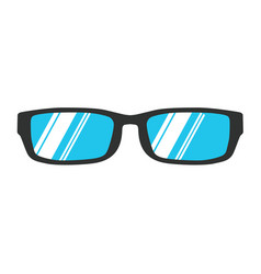 Glasses reading icon isolated eye black style vector