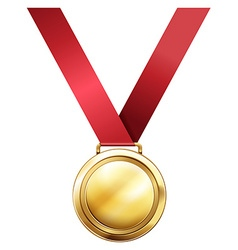 Gold medal for first prize vector