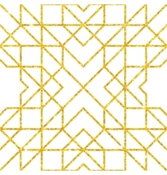 Golden seamless arabic pattern vector image vector image