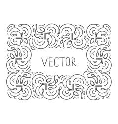 Hand drwan frame floral monogram design emblem vector
