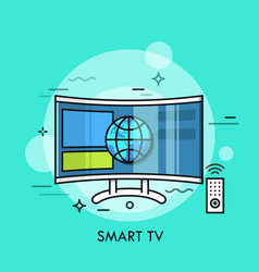 Hybrid or smart tv displaying content from website vector