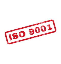 Iso 9001 text rubber stamp vector