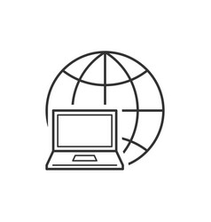 notebook on the globe vector image