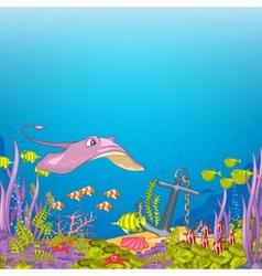 Ocean Underwater Cartoon vector image vector image