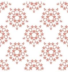 orange brick colored birds pattern vector image vector image