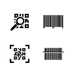 Qr code simple related icons vector