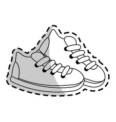 Sneaker shoes icon image vector