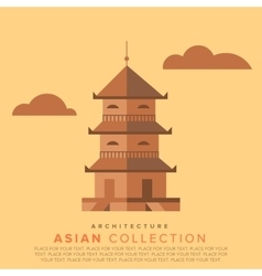 Traditional asian architecture vector
