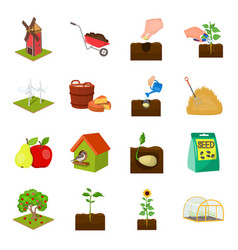 vegetable garden ecology and other web icon in vector image