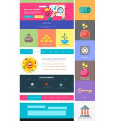 Website page template Web design vector image
