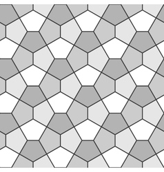 Seamless geometric pattern pentagonal regular vector