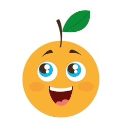 Orange citrus fruit character vector