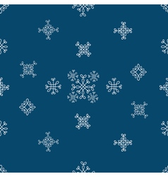 Snowflakes seamless patternblue snow christmas vector
