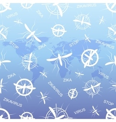 Zika virus pattern wallpapers with world map zika vector